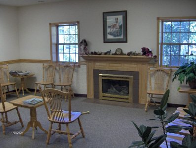 The inside waiting area of the clinic